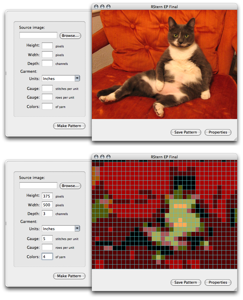 Knitting Pattern Generator From Picture : Knit Pattern Generator Becky Stern